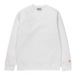 Sweat col rond Carhartt Chase blanc