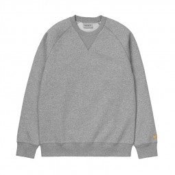 Sweat col rond Carhartt Chase gris chiné