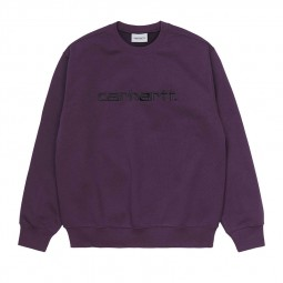 Sweat col rond Carhartt violet