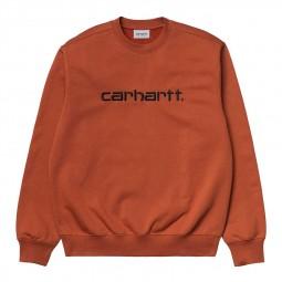 Sweat col rond Carhartt marron