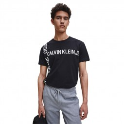 T-shirt Calvin Klein noir logos blancs