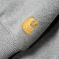 Sweat à capuche Carhartt Hooded Chase gris chiné