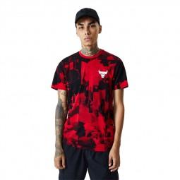 T-shirt New Era Chicago Bulls noir rouge