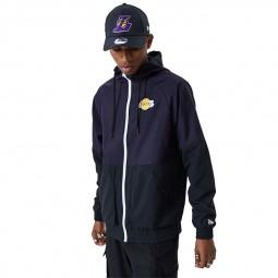 Coupe vent New Era Los Angeles Lakers noir violet