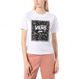 T-Shirt manches courtes Vans Boxed in Crew blanc