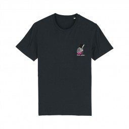 T-shirt Fred Aston noir zèbre
