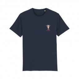T-shirt Fred Aston bleu marine girafe