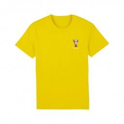 T-shirt Fred Aston jaune girafe
