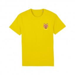 T-shirt Fred Aston jaune renard
