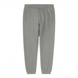 Pantalon jogging Carhartt WIP Chase gris chiné