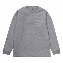 T-shirt manches longues Carhartt Chase gris chiné