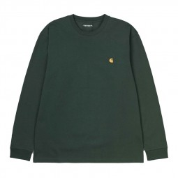 T-shirt manches longues Carhartt Chase vert foncé