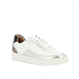 Chaussures Vanessa Wu blanc argent leopard