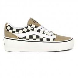 Chaussures Vans Shape Ni beige noir