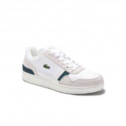 Chaussure Lacoste T-Clip blanc vert
