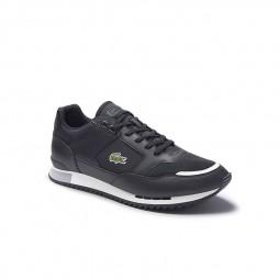 Chaussure Lacoste Partner Piste noir blanc