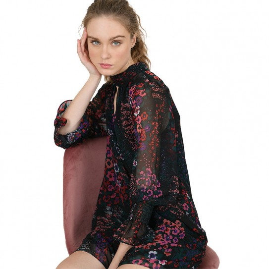 Robe courte imprimé à fleurs Molly Bracken