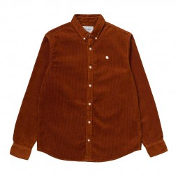 Chemise velours côtelé Carhartt Madison Cord Shirt marron