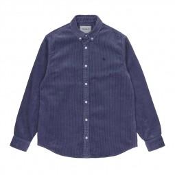 Chemise velours côtelé Carhartt Madison Cord Shirt violet