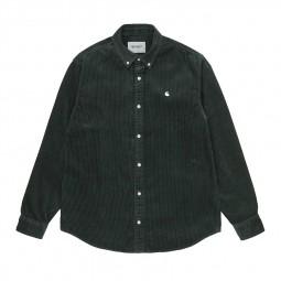 Chemise velours côtelé Carhartt Madison Cord Shirt vert foncé