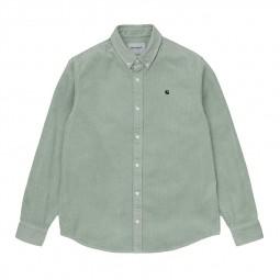 Chemise velours côtelé Carhartt Madison Cord Shirt vert clair