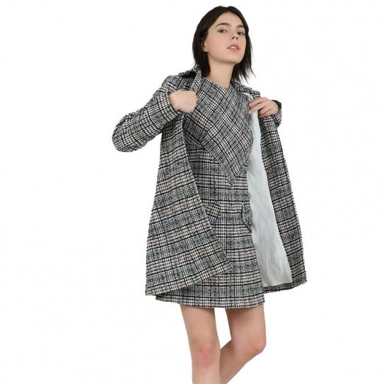 Robe imprimée à carreaux Lili Sidonio