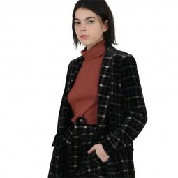 Veste blazer en velours Lili Sidonio noir, or, bleu