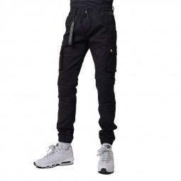 Pantalon cargo slim Project X Paris noir