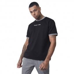 T-shirt Project X Paris noir carreaux