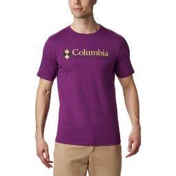 T-shirt col rond Columbia CSC Basic violet