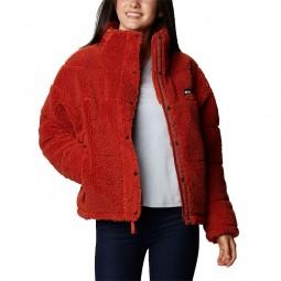 Polaire Columbia Lodge Baffled Sherpa Fleece orange