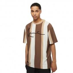 T-shirt à rayures Karl Kani beige