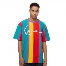 T-shirt à rayures Karl Kani violet