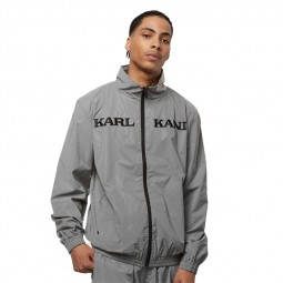Veste Karl Kani Rétro Reflective Jacket gris argent