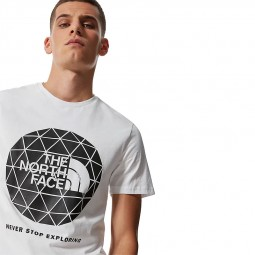 T-shirt The North Face S/S Geodome Tee blanc