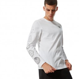 T-shirt The North Face L/S Geodome Tee blanc