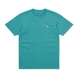 T-shirt manches courtes Carhartt Chase turquoise