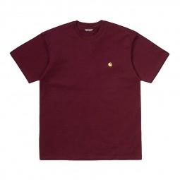 T-shirt manches courtes Carhartt Chase bordeaux
