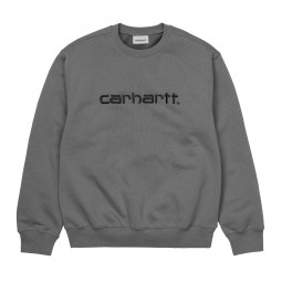 Sweat col rond Carhartt gris