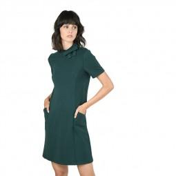 Robe courte droite Molly Bracken verte