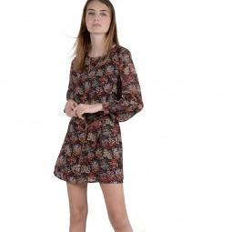 Robe courte imprimée fleurs Molly Bracken