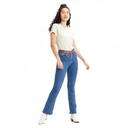 Jeans Levi's 725 Hight Waisted Bootcut bleu clair