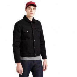 Sherpa Levi's Trucker Jacket noir