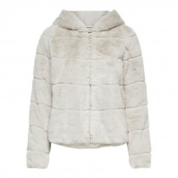 Blouson peluche Only Chris Fur Jacket beige clair