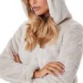 Blouson peluche Only Chris Fur Jacket beige clair