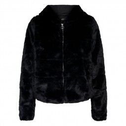 Blouson peluche Only Chris Fur Jacket noir