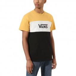 T-Shirt manches courtes Vans Retro Active jaune, blanc, noir