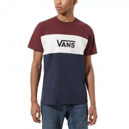 T-Shirt manches courtes Vans Retro Active bordeaux, blanc, noir