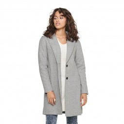 Manteau Only Carrie gris clair chiné