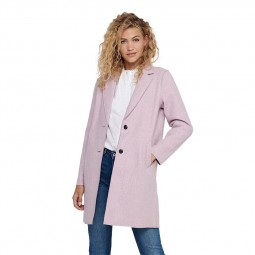 Manteau Only Carrie rose chiné